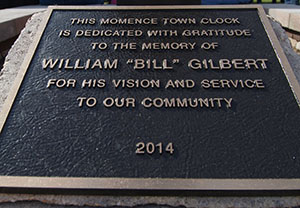 Clock Dedication Plaque