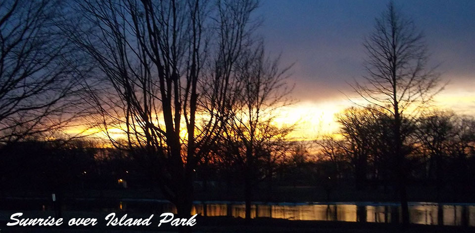 Sunrise over Island Park