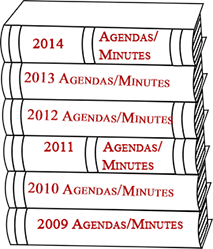 Library books for 2009-2014 minutes and agendas